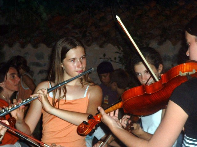 Flûte et violons